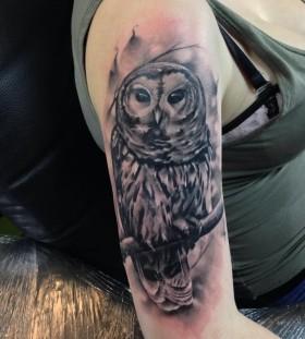 Owl tattoo by Razvan Popescu