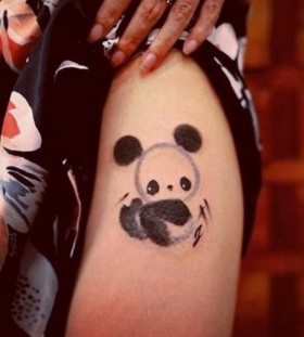 Panda bear tattoo by Chen Jie
