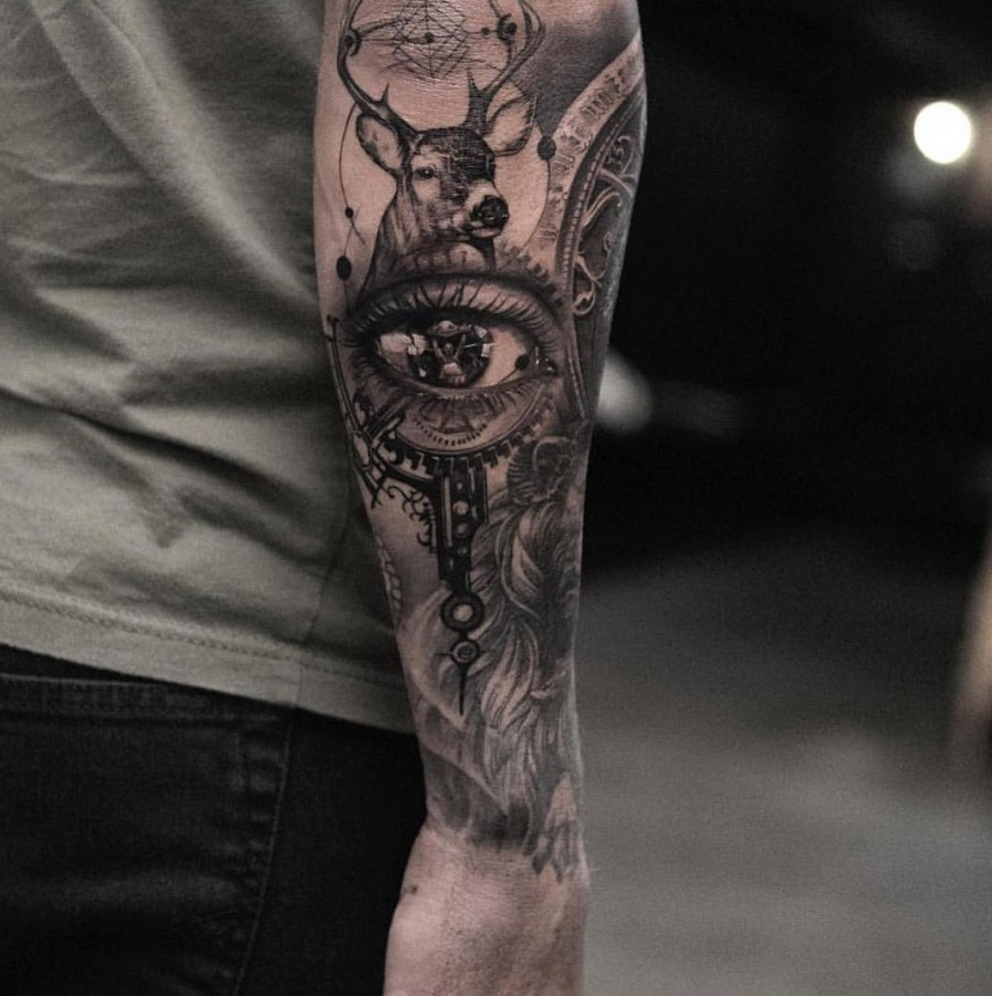 part sleeve tattoo by oscarakermo
