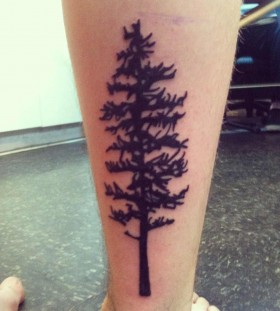 Pine tree arm tattoo