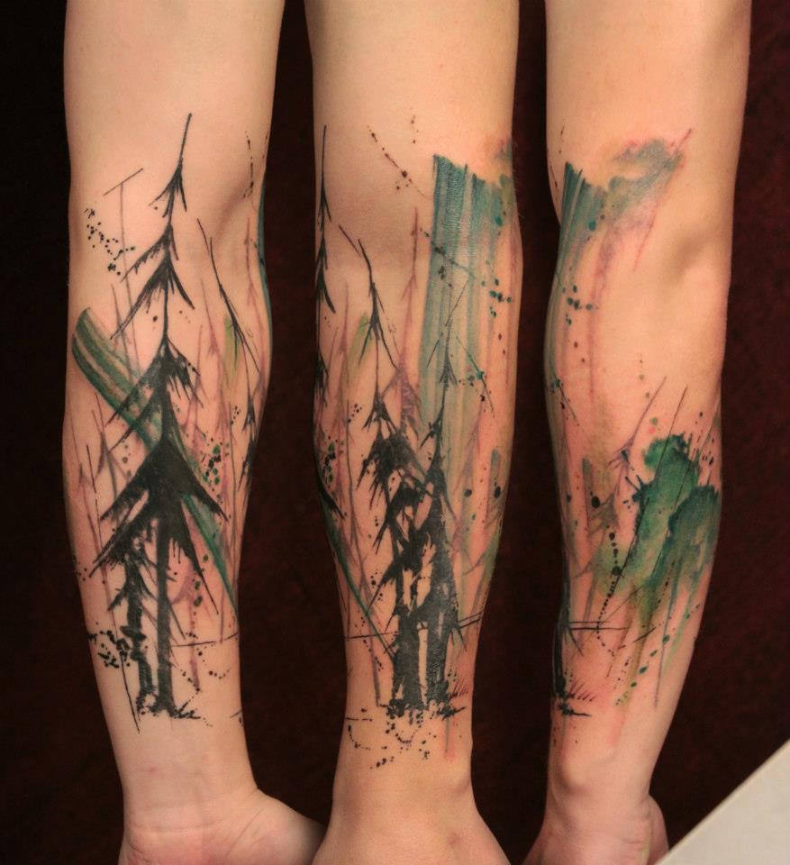 Pine Tree Hand Tattoo Pine Tree Tattoo Design
