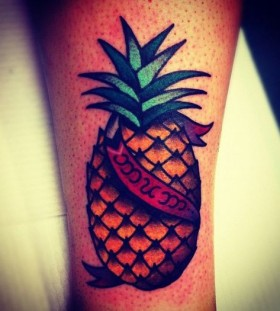 Pineapple tattoo by Charley Gerardin