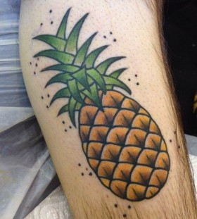 Pineapple tattoo by Clare Hampshire