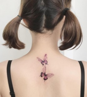 pink-back-butterfly-tattoos-by-tattooist_flower