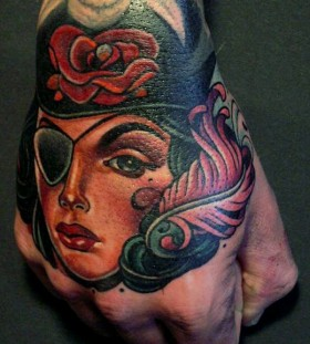 Pirate lady tattoo by Lars Uwe Jensen