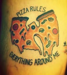 Pizza rules pizza tattoo