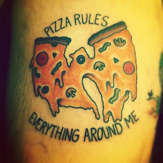 Pizza rules pizza tattoo
