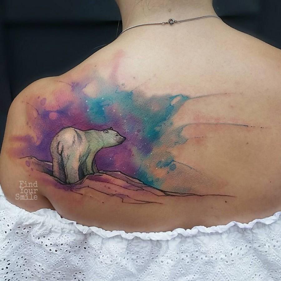 polar-bear-watercolor-tattoo