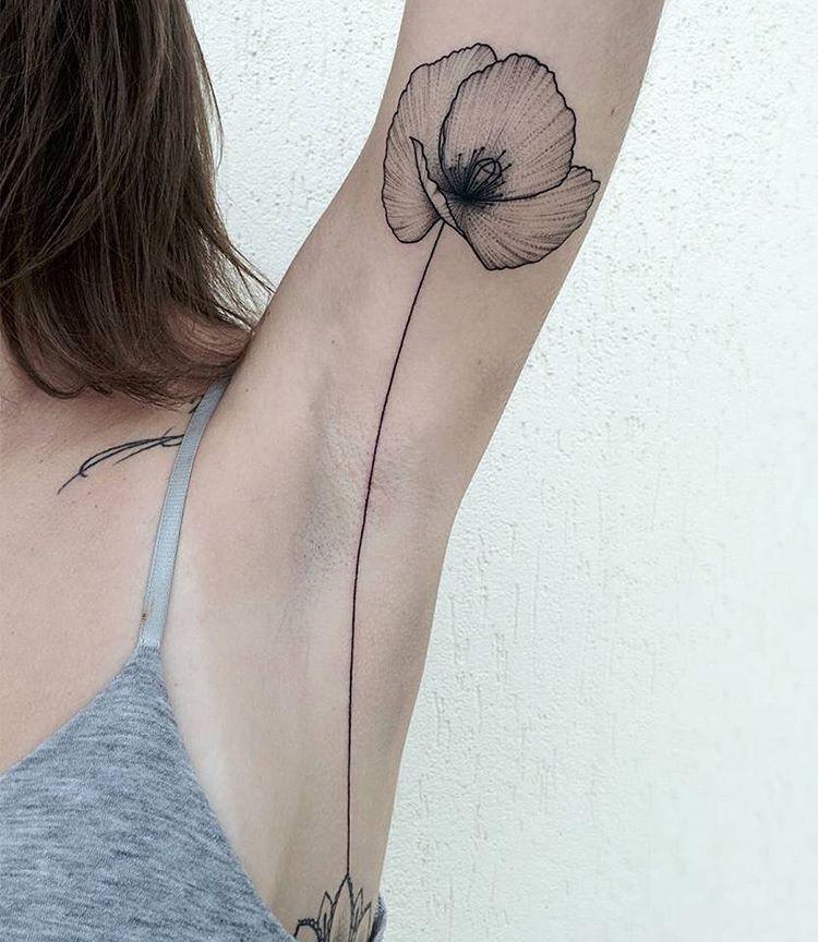 poppy tattoo by michele volpi