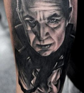 Portrait tattoo by Benjamin Laukis