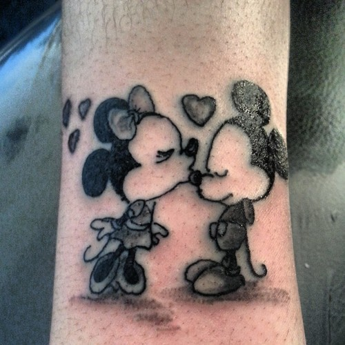 Pretty Minnie and Mickey tattoo