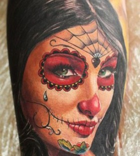 Pretty Santa Muerte tattoo
