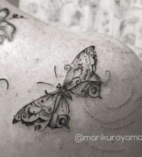 pretty-butterfly-tattoo-by-marikuroyama