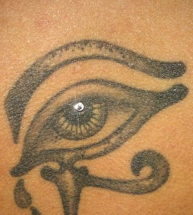 Pretty looking egyptian eye tattoo
