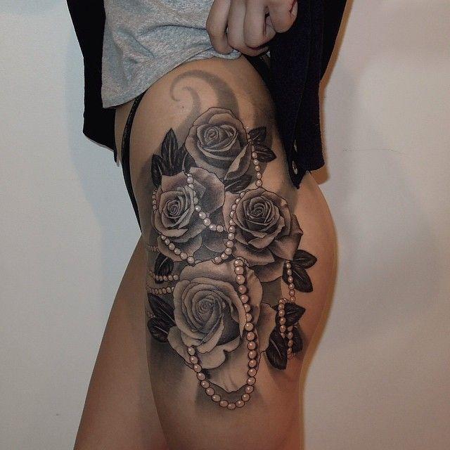 Pretty looking lace tattoo