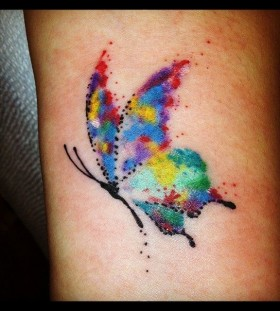 Pretty looking watercolor butterfly tattoo