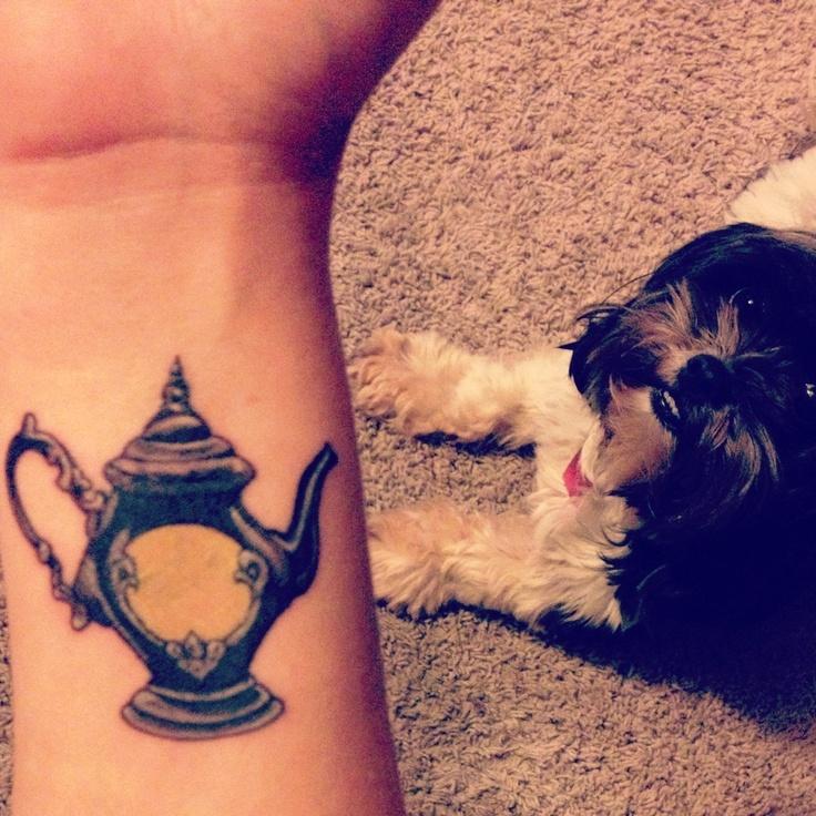 Pretty teapot arm tattoo