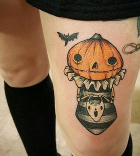 pumpkin-halloween-tattoo-by-angela-bailey