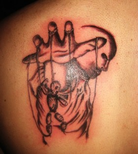 Puppet master back tattoo