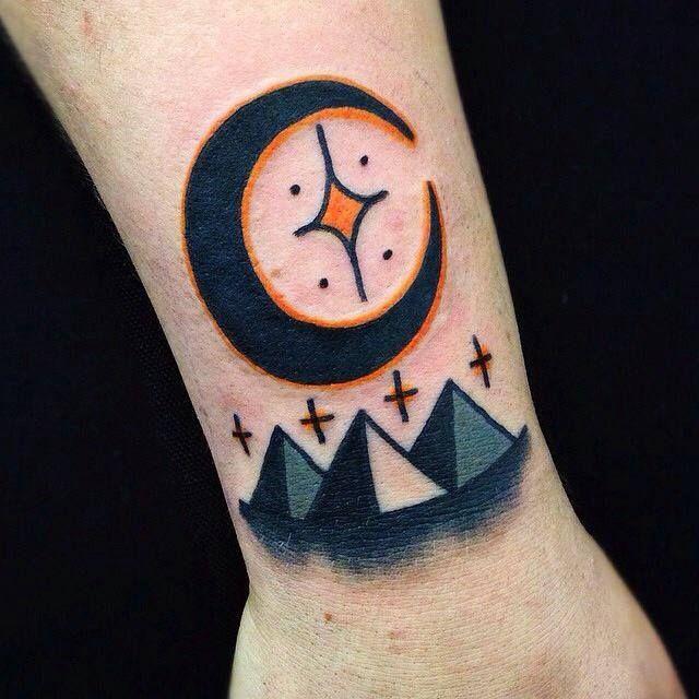 Pyramids tattoo by Matt Cooley