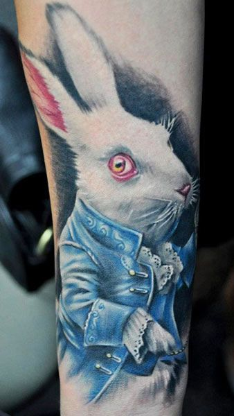 Realistic bunny tattoo by Benjamin Laukis