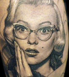 Realistic portrait tattoo by James Tattooart