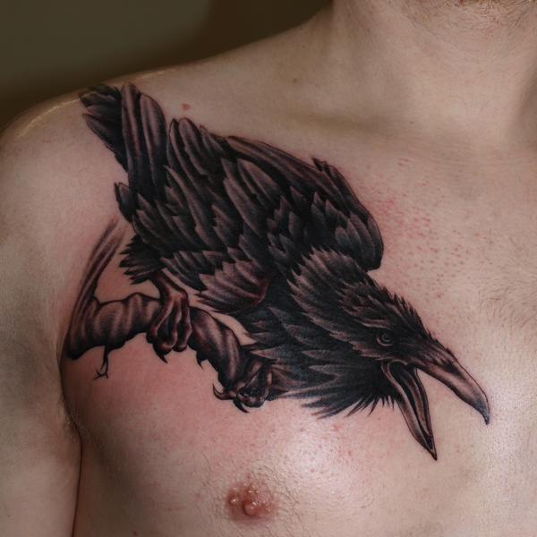 Realistic Raven Chest Tattoo Tattoomagz Tattoo Designs Ink