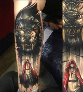 Red riding hood tattoo by Benjamin Laukis