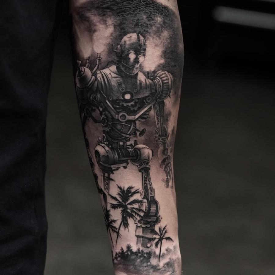robot tatto sleeve by oscarakermo