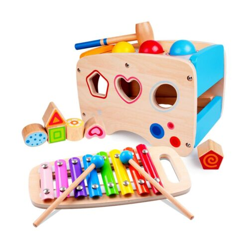 Rolimate Wooden Hammering Toy + Xylophone