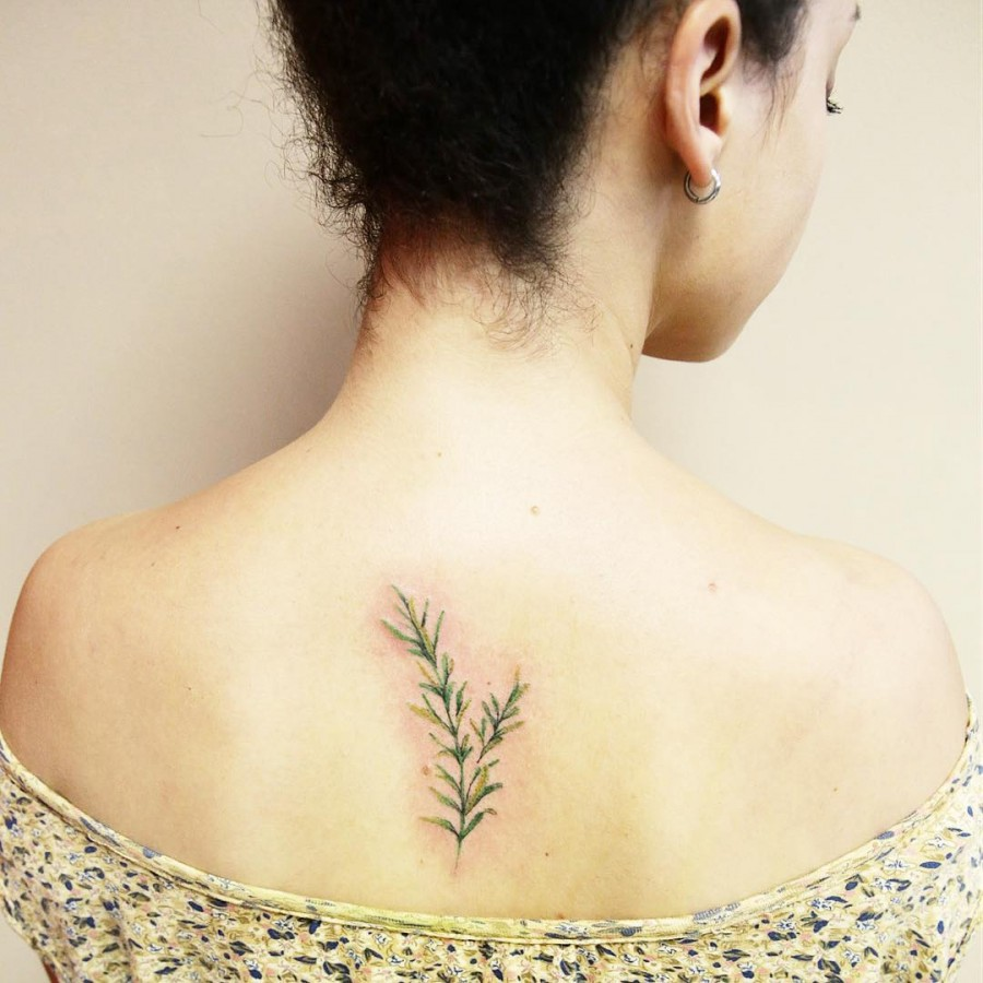 rosemary tattoo by luiza.blackbird