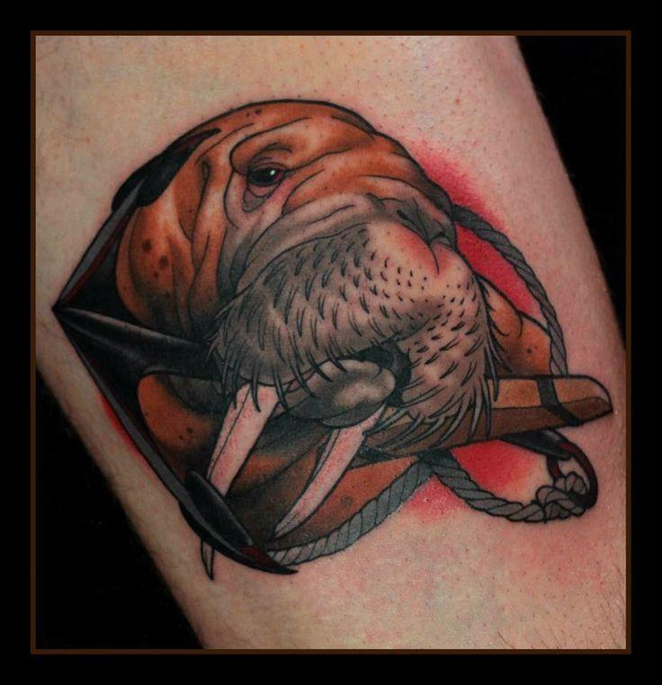Sad walrus tattoo