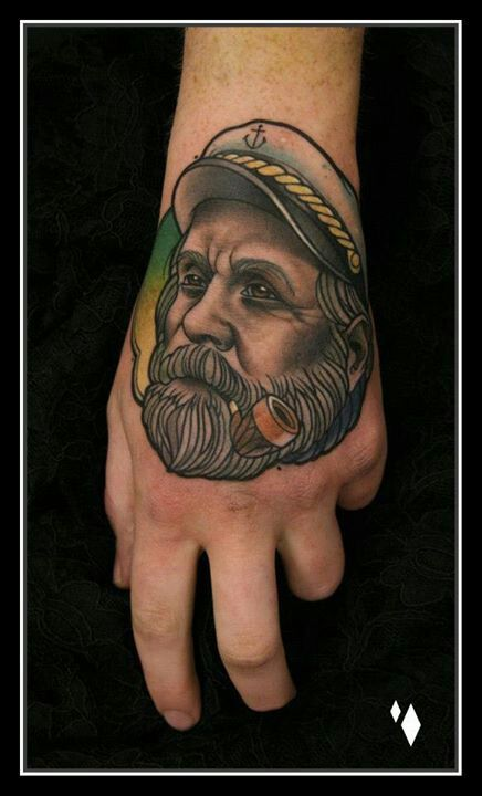Sailor with a pipe tattoo