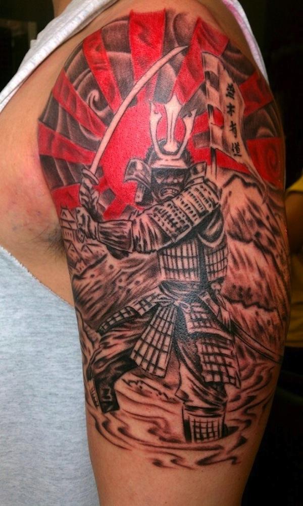 Samurai Warrior Arm Tattoo