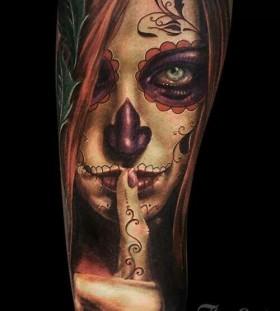 Sanat Muerte tattoo