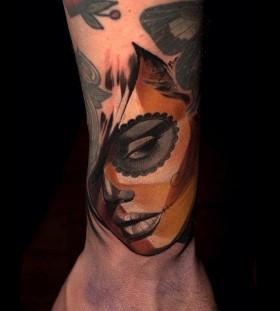 Santa Muerte tattoo by Halasz Matyas