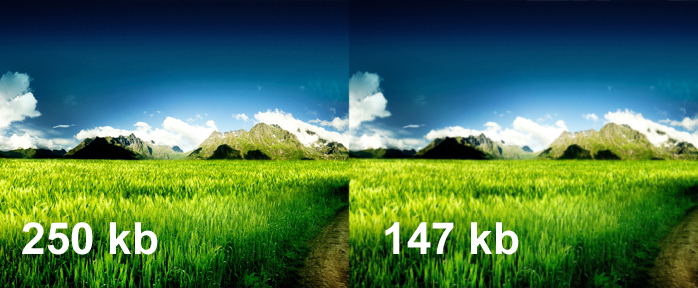 Scaling of image file size