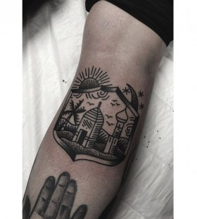 Scenery tattoo by Charley Gerardin