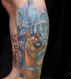 Scooby doo and house tattoo