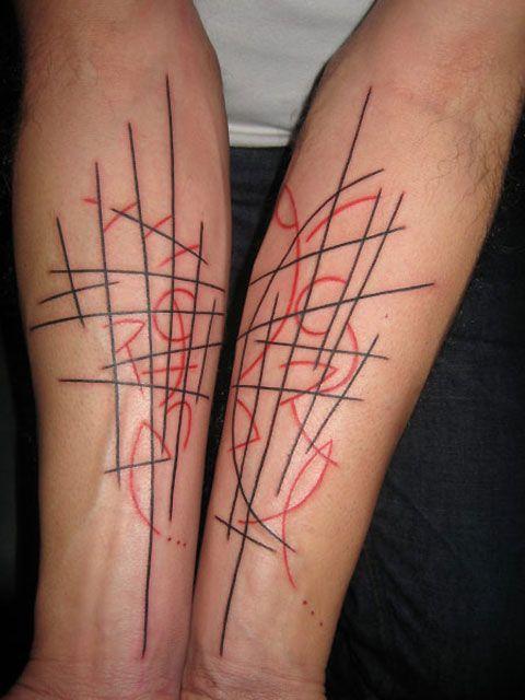 Scribbles tattoo by Yann Black