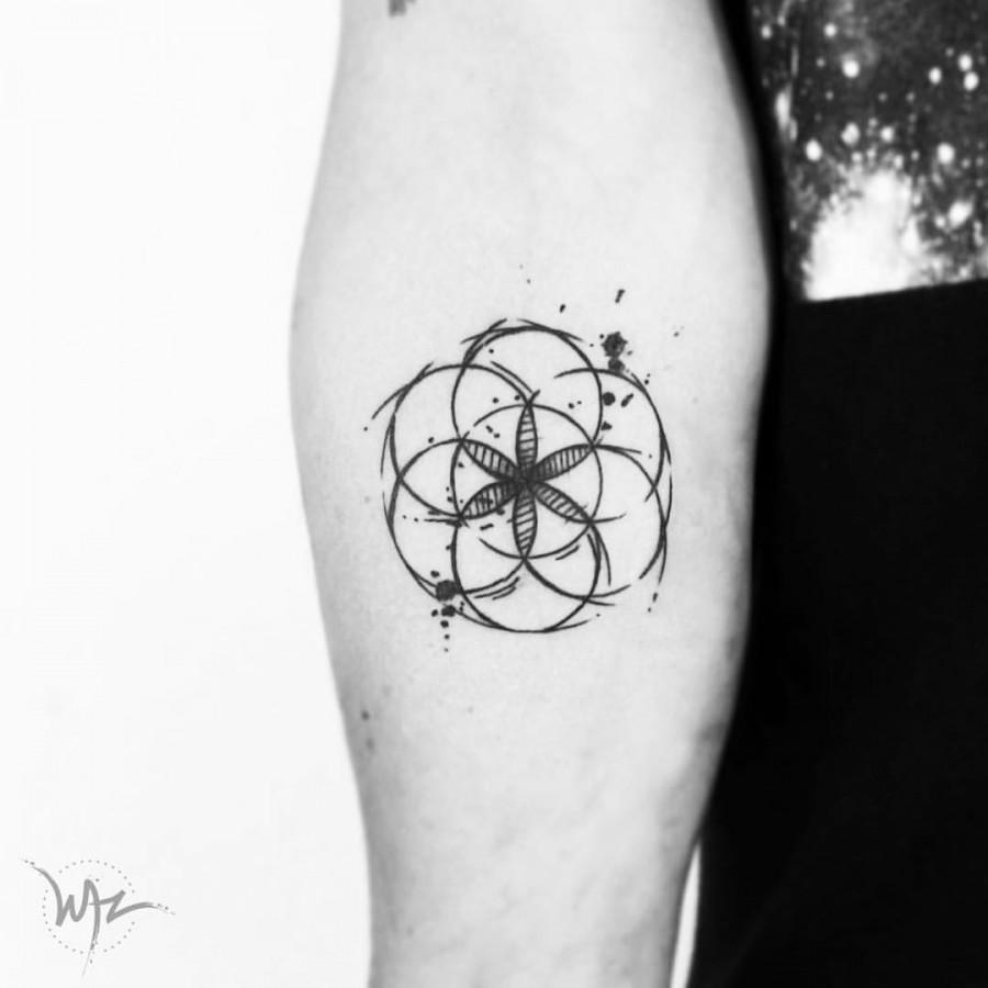 seed of life tattoo by gerardowaz