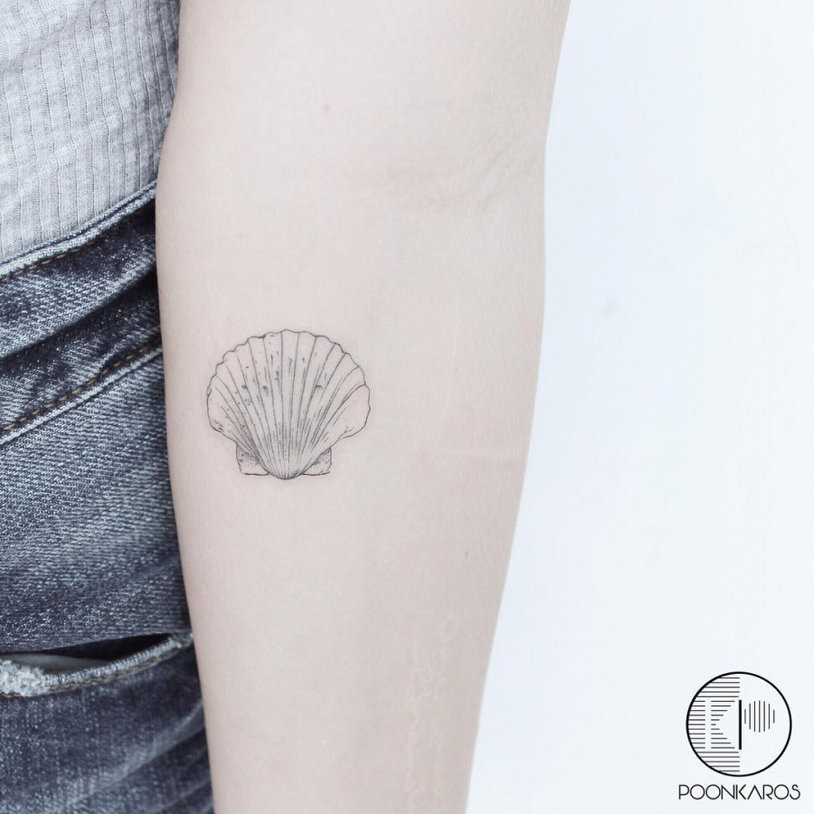 shell tattoo by karry ka ying poon