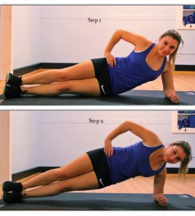 side plank for love handles