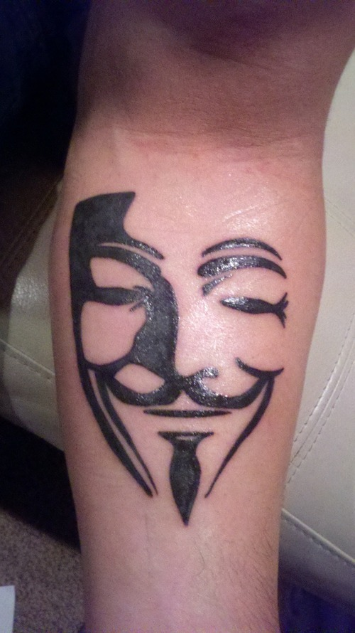 Simple V for Vendetta tattoo
