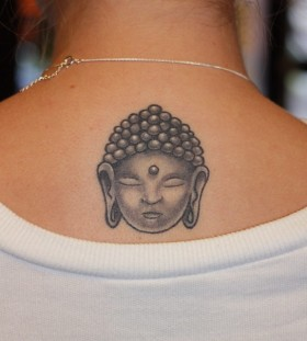 Simple buddha back tattoo