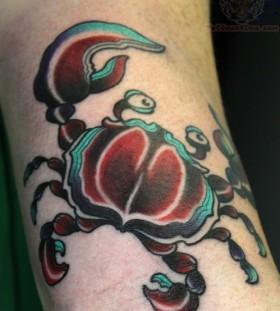 Simple crab tattoo