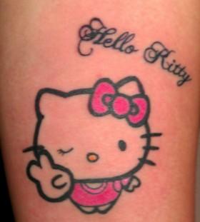 Simple hello kitty tattoo