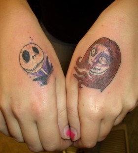 Simple jack and sally tattoos