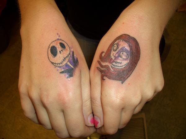 Simple jack and sally tattoos