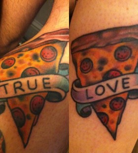 Simple quote and pizza tattoo